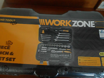 99 Piece Wrench & Socket Set In Carry Case Brand New Workzone Hand Tools