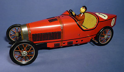 PAYA 1604 Blech Bugatti Rennwagen 48 cm OVP red vintage Tin Racing Car 1989 C161