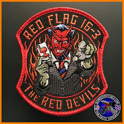 96th BOMB SQ RED FLAG 16-3 PATCH B-52 STRATOFORTRESS BARKSDALE NELLIS RED DEVILS