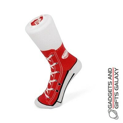 NOVELTY HIGHTOP CONVERSE STYLE SOCKS RED SIZE 1-4 Unisex Clothing accessories