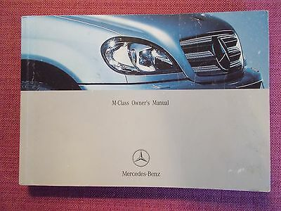 Mercedes-Benz M-Class (2001 - 2005) Owners Manual - Guide - Handbook (Me 284)