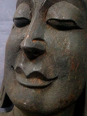 Antique / Vintage Indian Hand-Carved, Sacred Buddha Mask. Kathmandu Nepal. Large