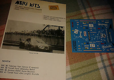 Meri Kits Ferrari 512BB Instructions and decals only