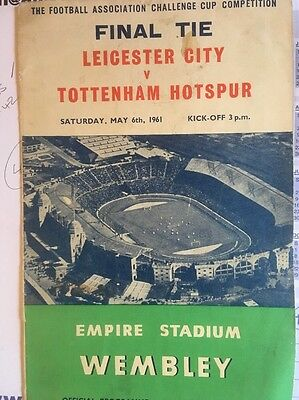 FA Cup Final 1961 Leicester V Tottenham
