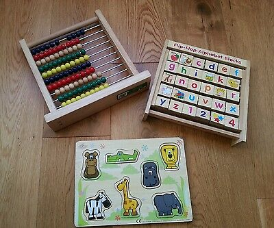 Wooden Toy Bundle - Learning Educational Pre School Toys