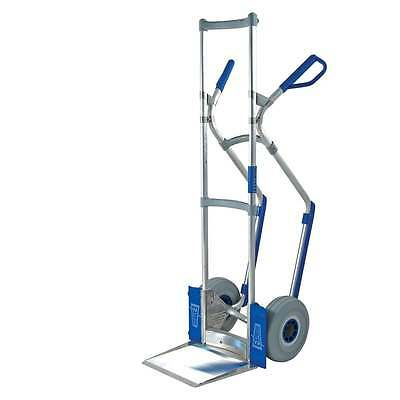 EXPRESSO Heavy Duty High Back Hand Sack Truck Ribbed Pneumatic Rubber Tyres