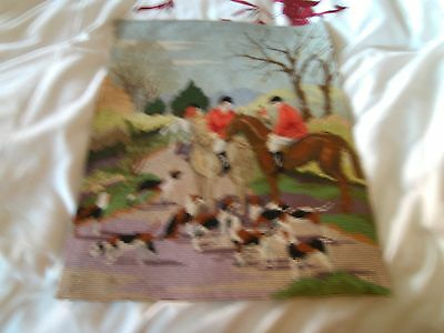 large Vintage completed tapestry of the hunt