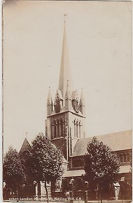 Rp Notting Hill St John's Church London   , Real Photo Posted 1905