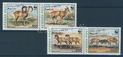 Afghanistan stamp WWF: Urial set in pairs 1998 MNH Mi 1819-1822 WS100882