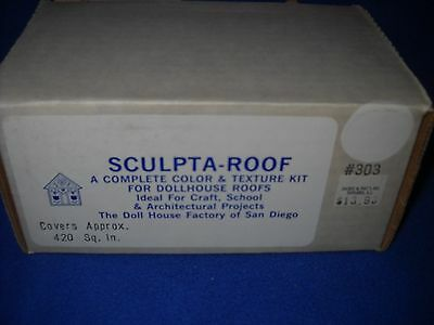 SCULPTA-ROOF color & texture kit by Doll House Factory, white, #303