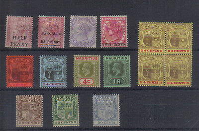Mauritius Early mint collection