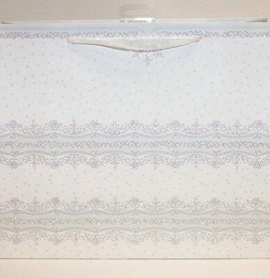 White wedding lace decorative 12 pack gift bags Mr&Mrs, Bride and Groom