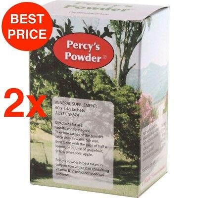 2 X PERCYS POWDER 60 x 1.4g sachets - MINERAL SUPPLEMENT