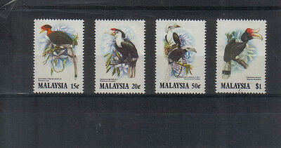 Malaysia 1983 Hornbills set lightly mounted mint