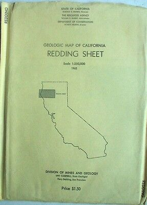 Colored Geologic Map of Redding Sheet, California,1962