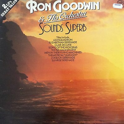 Ron Goodwin & His Orchestra Sounds  Superb 2 LP's  24 Beautiful Tracks  MFP1025