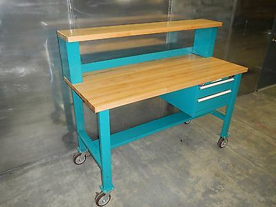 """Stor-Loc Workbench Table 72""""W 30""""D 43""""H Table 59.5""""H Overall"""