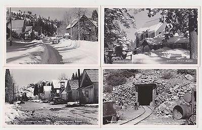 4 Postcards Of Johhsville Calif , Mine,  Real Photo By Eastman's Studio C 1955