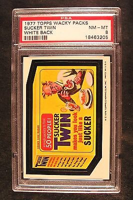 1976/77 Topps Wacky Packages 16th Series 16 SUCKER TWIN NM-MT PSA 8