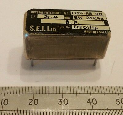 "CRYSTAL FILTER 21.4MHz BW 20KHz SEI LTD NEW ""OLD"" STOCK"