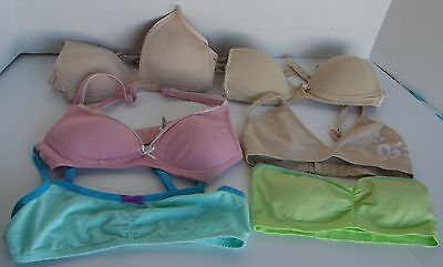 LOT OF 5 TWEEN BRAS 32AA, 32, Small-Petitte, 34A Justice, Exhilaration, Under Co