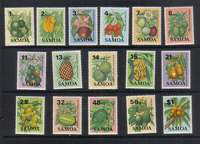 Samoa 1983-84 Fruit Six teen values to $1 very lightly mounted mint