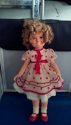 """Shirley temple doll by Ideal 1972 original dress , shoes , socks , underwear 16"""""""