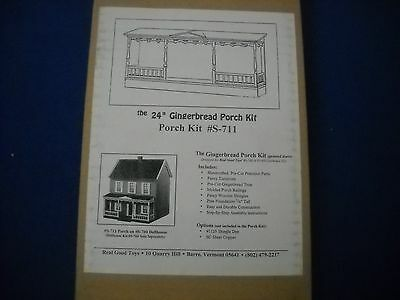 GINGERBREAD PORCH dollhouse kit, by Real Good Toys, 1:12 scale, #S-711, NIB