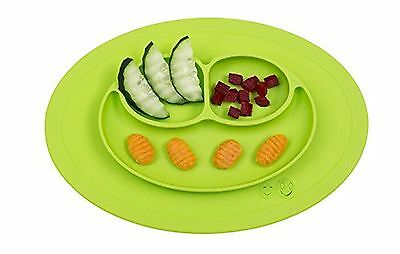 Smiley Happy Placemat One Piece Silicone Suction Placemat and Plate  for Kids...