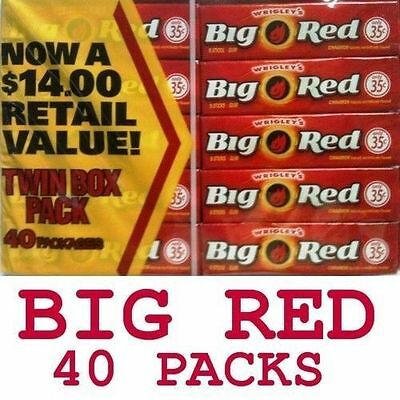 BIG RED Wrigley's Cinnamon Chewing Gum 40 Packs 200 Ct New Stock BBD JULY 2017