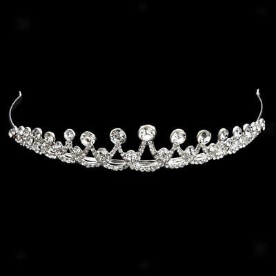 Crown Diamante Rhinestone Crystal Headband Tiara Headpiece Hair Accessory