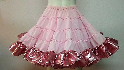 Pink Lame Petticoat By Eva's Pongee Top 40 Yards 21""