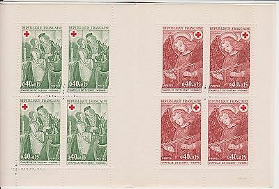 France Red Cross Stamp Booklet 1970 Croix-Rouge Francaise Postes
