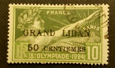 1924 Olympiade Grand liban stamp.