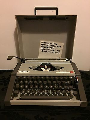 Olivetti Tropical Vintage Typewriter With Case Rare