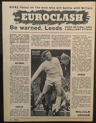 *1971* A4 Football picture article LEEDS v SETUBAL European Fairs Cup Preview