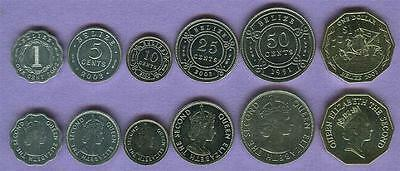 Belize 6 Coin Type Set Uncirculated/xf Columbus Ships