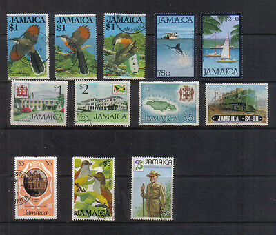 Jamaica Interesting collection of used high values