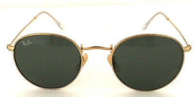 NEW AUTH Ray-Ban Sunglasses Round Metal RB3447 001 50mm Green G-15 Lens