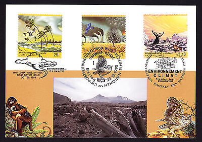 1993 United Nations Environment Climate stamps on UN NY philatelic postcard PC