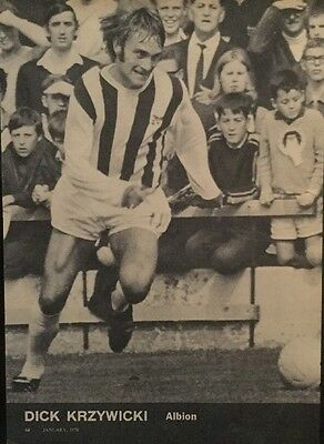 1970 A4 Football action picture poster DICK KRZYWICKI West Brom (WBA)