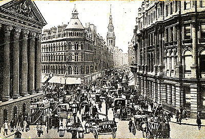 Early Postcard of Cheapside, LONDON ( Posted Camp Hill, Birmingham 1907)