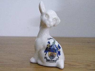 Vintage crested china Seated Dog, NEW BRIGHTON. unmarked