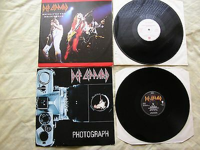 "DEF LEPPARD X 2 12"" SINGLES (Bringin' on the heartbreak, Photograph) UK p/s EX"