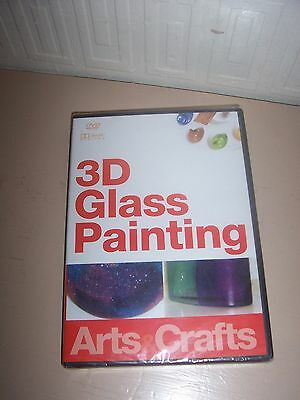 dvd art & craft. 3d glass painting.  new/sealed