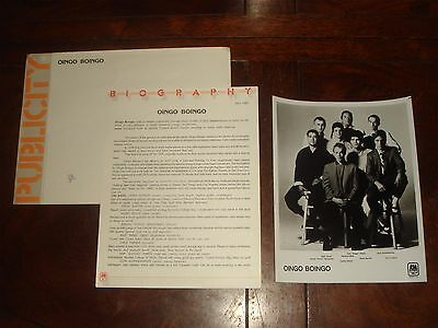 "Rare OINGO BOINGO ""Good For Your Soul"" 1983 A&M RECORDS PRESS KIT - Danny Elfman"