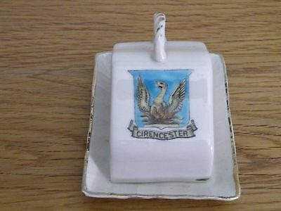 Vintage crested china Cheese Dish. Cirencester