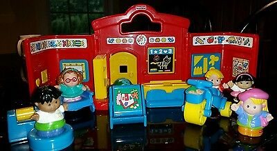 Fisher Price little people carry along travel school with extras
