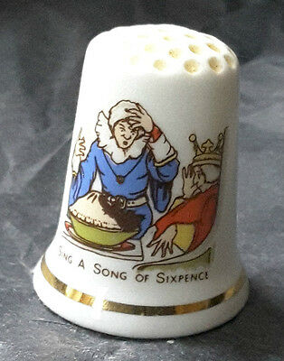 Cottage Thimbles Blackbird Baked in a Pie. Collectable Sewing Gift for a Baker!