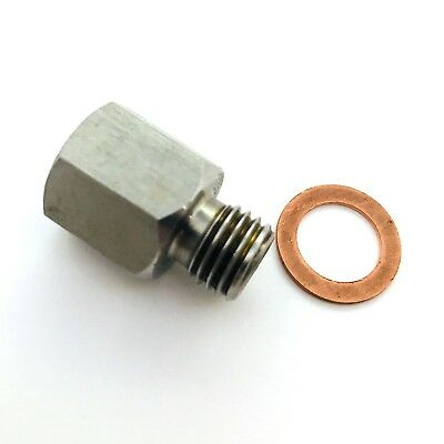 "Fitting Adapter NPT 1/8"" Female Metric M12X1.5 Male Replace auto meter 2277 _5P"